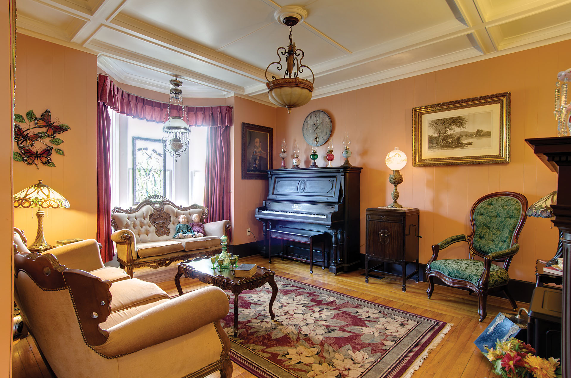 Home Tour Restored Victorian Charmer In Rural Newfoundland Wiring Through Walls How To Fish Had The Electrician Wires Save Upstairs Were Laid Under Floorboards Each One Carefully Removed Numbered